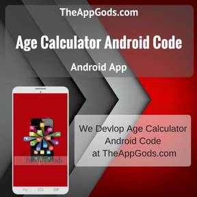 Age Calculator Android Code