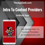 Intro To Content Providers
