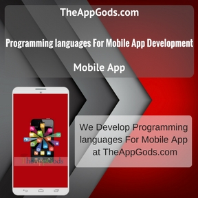 programming languages For Mobile App Development